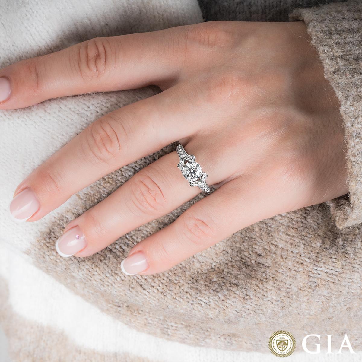 White Gold Round Brilliant Cut Diamond Ring 1.50ct F/SI1